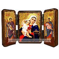 Покрывающая Икона Пресвятая Богородица (складень тройной 140х100мм)