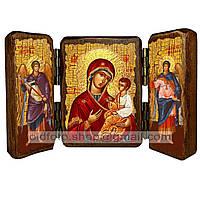 Скоропослушница Икона Пресвятой Богородицы (складень тройной 140х100мм)