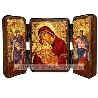 Сладкое Лобзание (Гликофилуса) Икона Пресвятой Богородицы  ,икона на дереве 260х170 мм