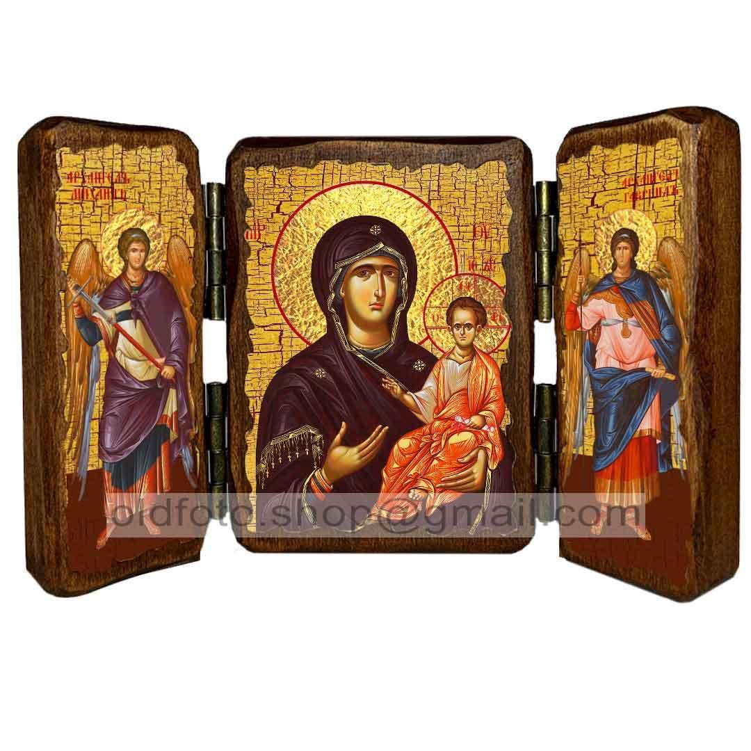 Одигитрия (Смоленская) Икона Пресвятой Богородицы  ,икона на дереве 260х170 мм