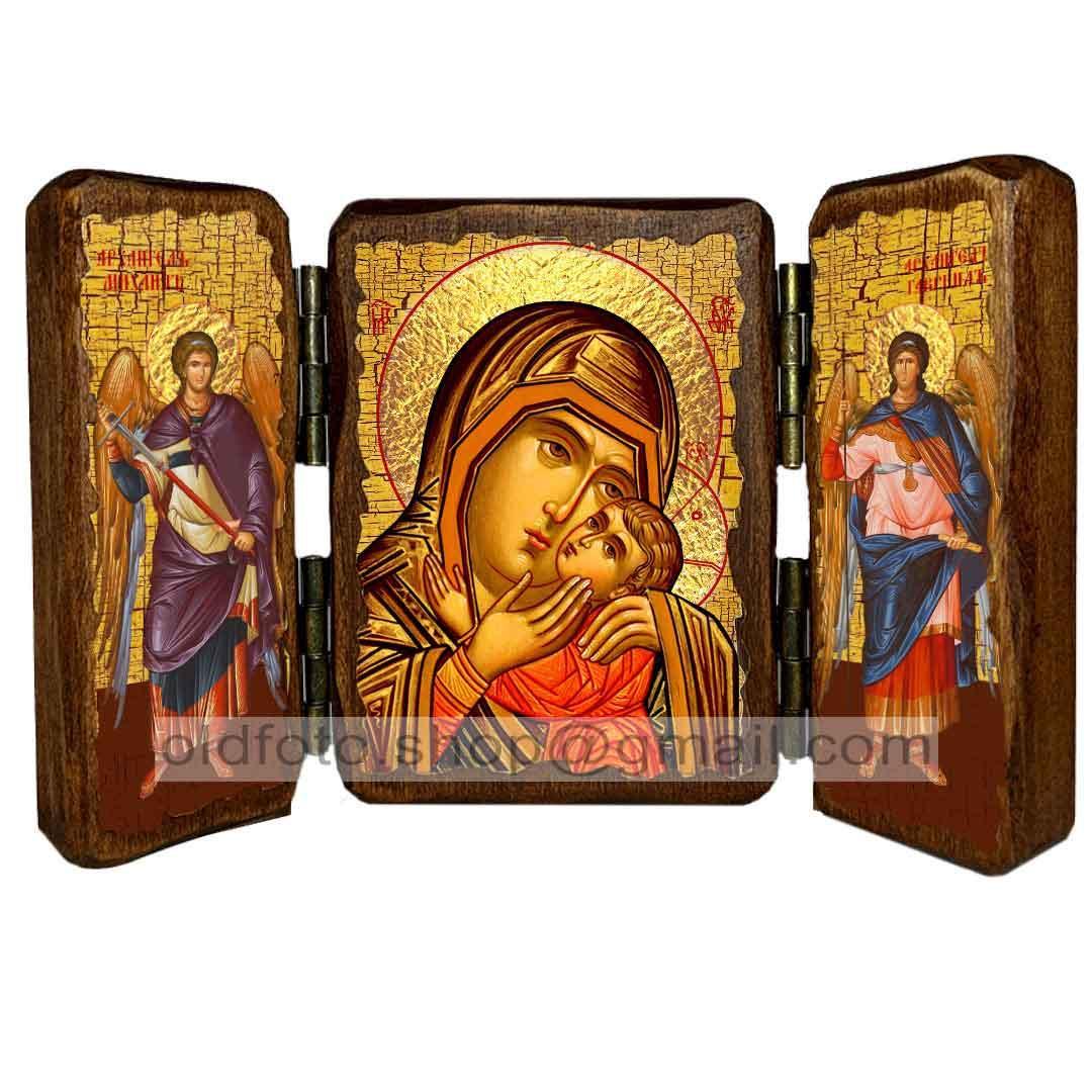 Спасительница Утопающих Икона Пресвятой Богородицы  ,икона на дереве 260х170 мм