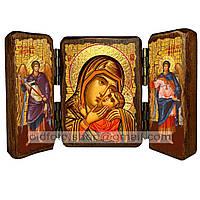 Спасительница Утопающих Икона Пресвятой Богородицы (складень тройной 140х100мм)