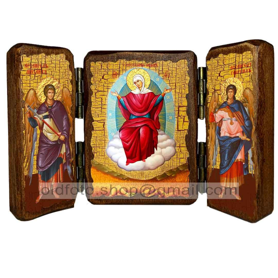 Спорительница Хлебов Икона Пресвятой Богородицы  ,икона на дереве 260х170 мм