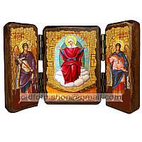 Спорительница Хлебов Икона Пресвятой Богородицы (складень тройной 140х100мм)