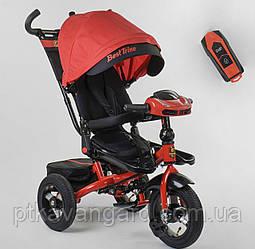Велосипед 3-х колёсный, цвет КРАСНЫЙ, Best Trike, фара с USB, пульт, надувные колеса, звук русс 6088 F-07-101