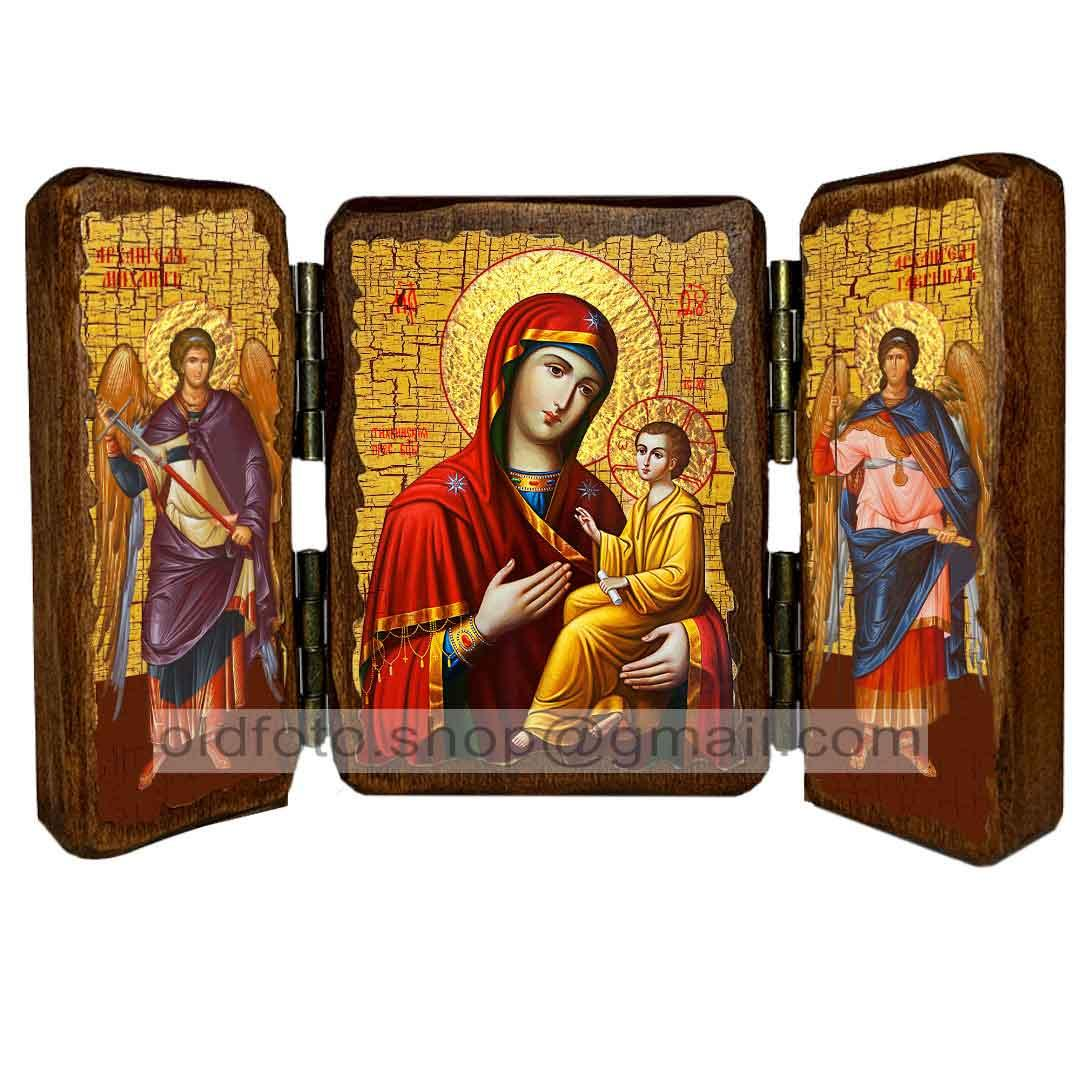Тихвинская Икона Пресвятой Богородицы  ,икона на дереве 260х170 мм