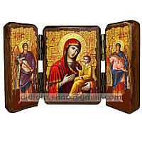 Тихвинская Икона Пресвятой Богородицы (складень тройной 140х100мм)