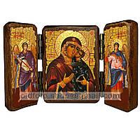 Толгская Икона Пресвятой Богородицы (складень тройной 140х100мм)