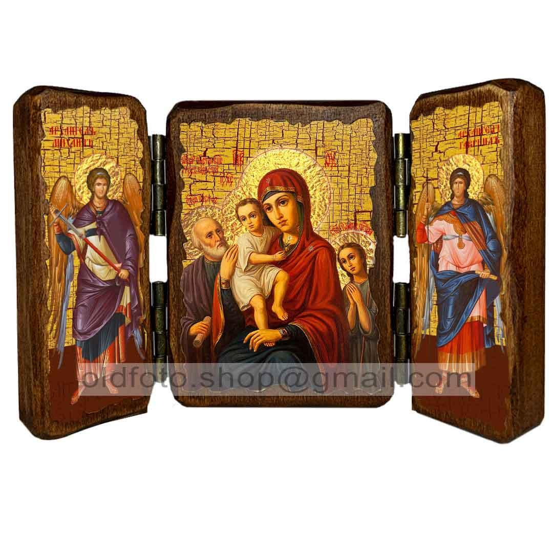 Икона Богородицы «Трех Радостей»  ,икона на дереве 260х170 мм
