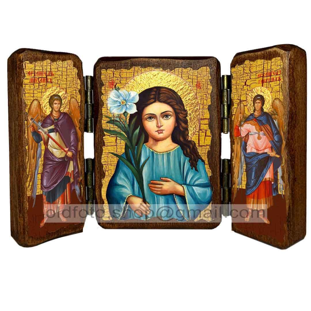 """Икона Пресвятая Богородица""""Трилетствующая""""  ,икона на дереве 260х170 мм"""