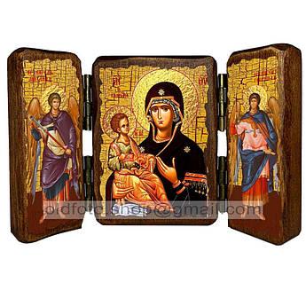 Троеручица Икона Пресвятой Богородицы  ,икона на дереве 260х170 мм