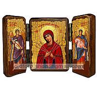 Умягчение Злых Сердец Икона Пресвятой Богородицы (складень тройной 140х100мм)
