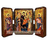 Экономисса Икона Пресвятой Богородицы (складень тройной 140х100мм)