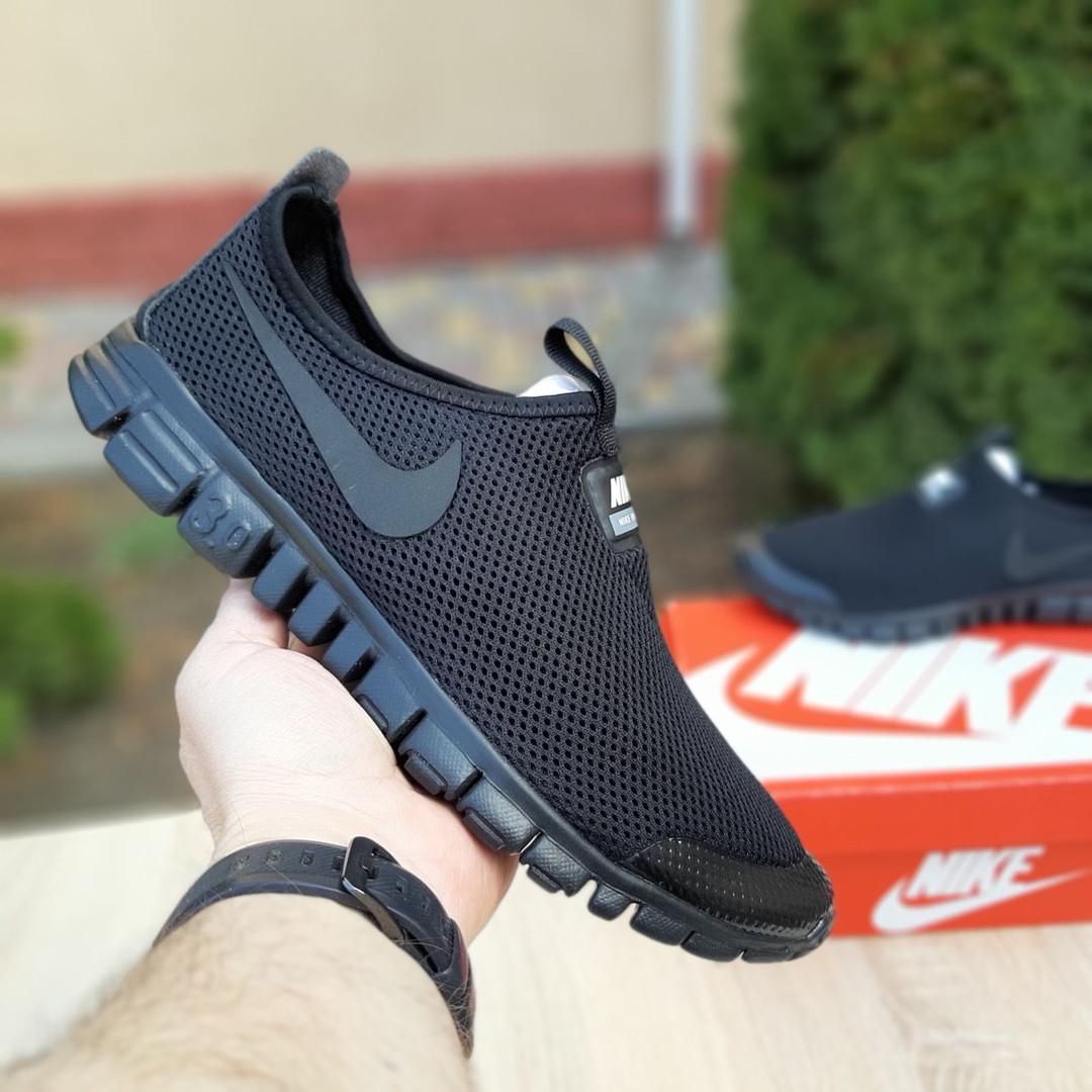 Мужские кроссовки Nike Free Run 3.0 (черные) 10052