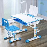Комплект растущей мебели Парта 80х60 см и стул для детей 3 - 15 лет ТМ Cubby Botero Blue