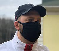 Захисна маска для особи, багаторазова, чорний колір, унісекс