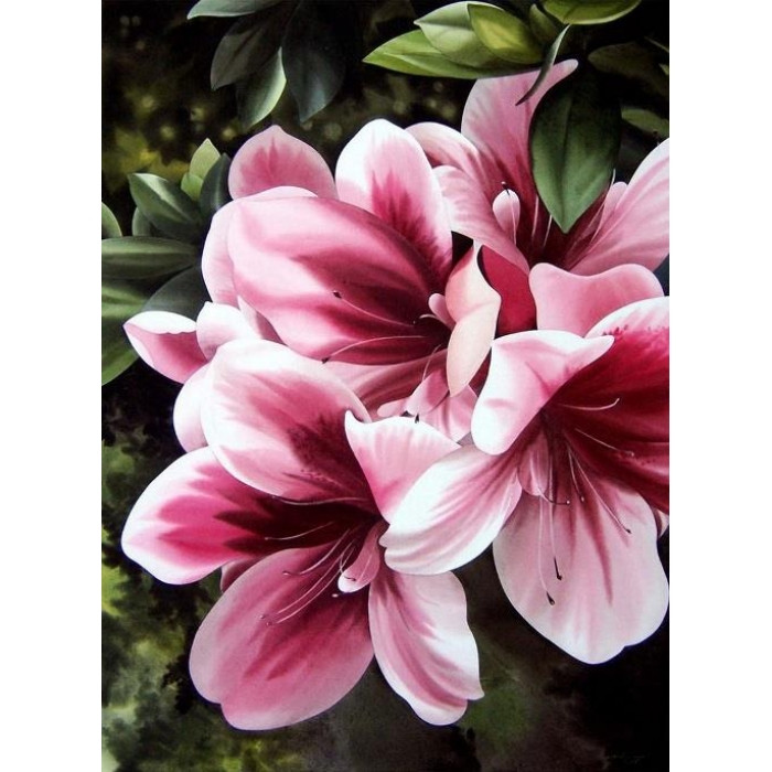 Картина по номерам Идейка - Розовая лилия 30x40 см (КНО2911)