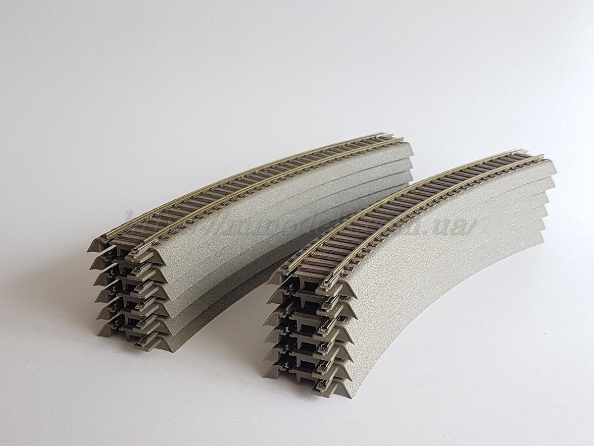 Рельсовый материал Roco 61123 Geoline, рельсы радиусные R3 12 штук (круг), масштаба 1/87,Н0