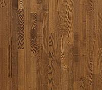 Паркетная доска Focus Floor Ясень Kalahari 3-полосный, легкий браш, темно-коричневый матовый лак