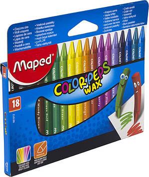 "Крейда воск. ""Maped"" №861012 18кольор. Color Peps Wax Crayons(12)"