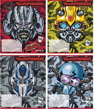 "Зошит 12арк. лін. ""Kite"" Transformers №TF18-234(20)(560)"