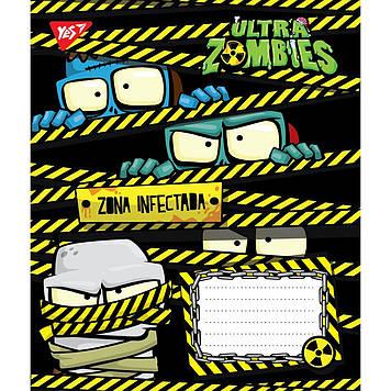 Зошит 12арк. лін. YES Ultra Zombies №763922(25)(250)