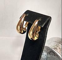 Серьги из медицинского сплава, в форме капельки, позолота РО, Xuping оригинал
