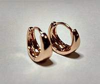 Серьги из медицинского сплава, в форме кольца маленькие, позолота РО, Xuping оригинал