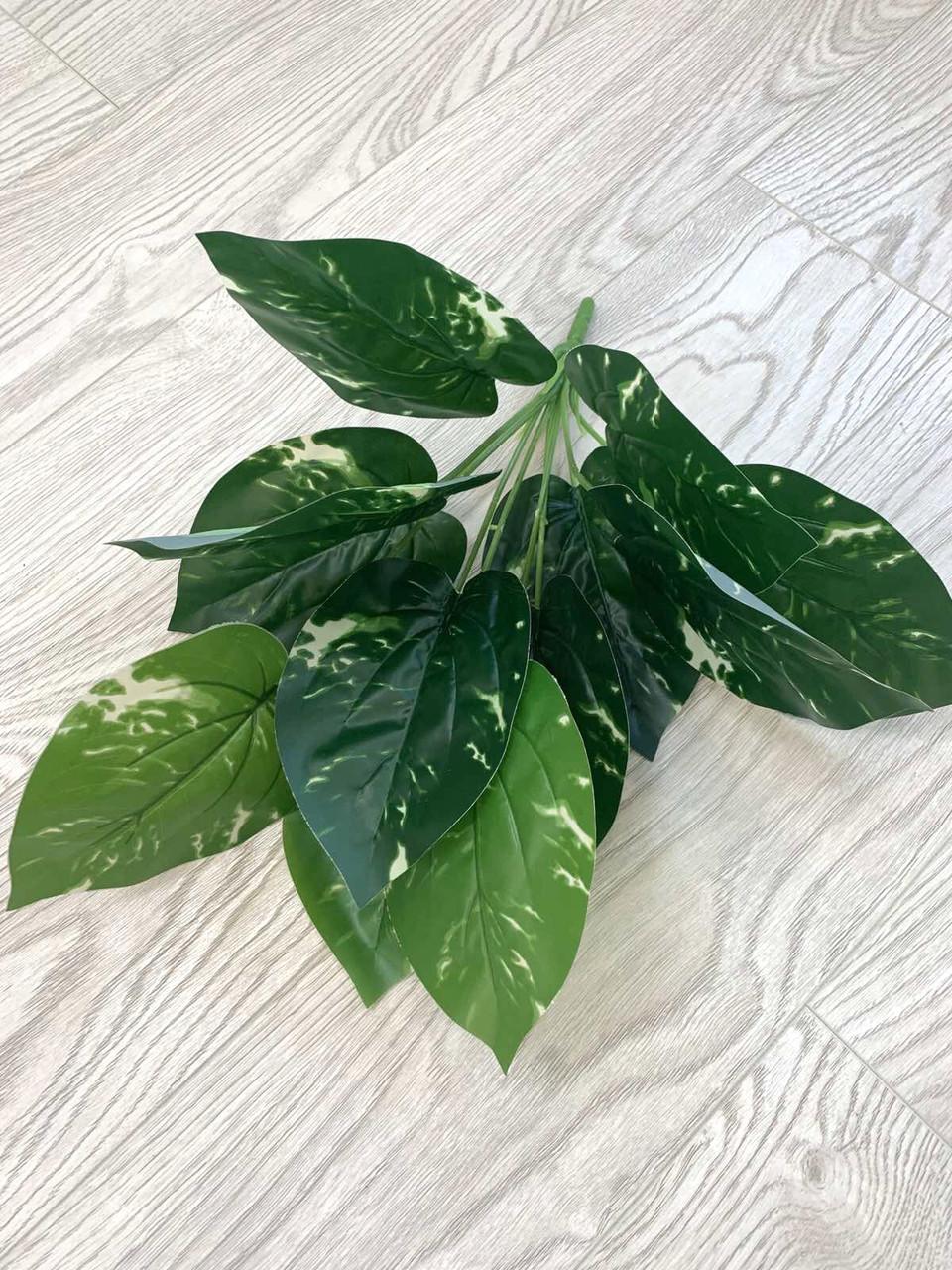 Искусственный,декоративный куст-филодендрон ( латекс 40 см)