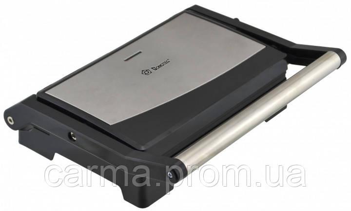 Контактный прижимной электрический гриль DOMOTEC MS-7708 Черный/Серебряный