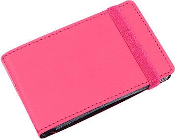 """Візитниця """"Optima"""" №O51615-09 Vivella (20візиток) кишеньк.,на резинці,рожев."""