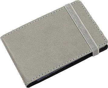 """Візитниця """"Optima"""" №O51615-10 Vivella (20візиток) кишеньк.,на резинці,сіра"""