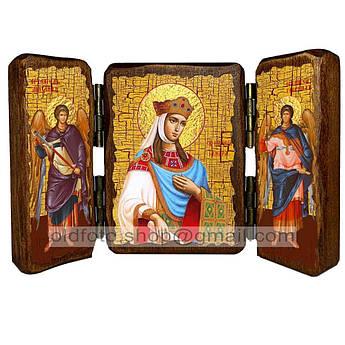 Икона Тамара Святая Царица Великая  ,икона на дереве 140х100 мм