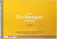"Альбом для малюв. на пруж. 20/240 А4""Muse""Mix Technique картон№PB-SC-020-303/Школярик/(36)"