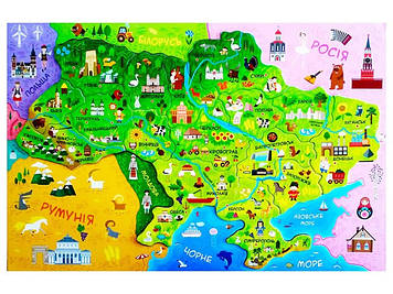 Дитяча карта України A1 №8473/Ранок/(100)