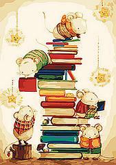 """Картина по номерам.Животные, птицы """"Маленькие читатели"""" 35*50см KHO4111"""