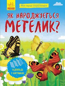 """Енциклопедія А5 м'як. """"Моя перша енциклопедія.Як народжується метелик?"""" №8352/Ранок(20)"""