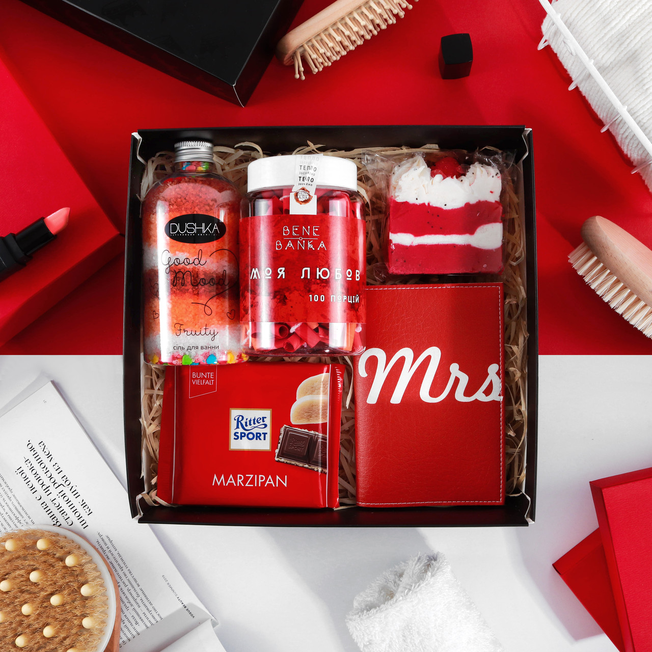 """Подарочный набор для женщины. Подарок девушке. Подарок женщине  """" Red  """""""