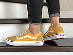 Женские кроссовки Vans (желтые) 9196, фото 4