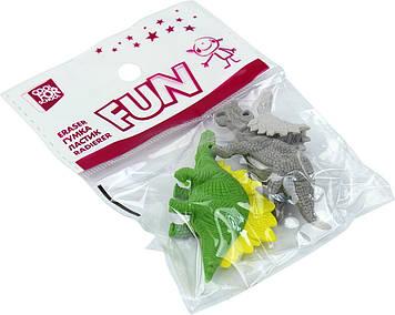 "Гумка ""CoolForSchool"" Dinosaurs 2шт №CF81758(72)"