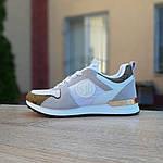 Женские кроссовки Louis Vuitton (белые с золотом) 20015, фото 3