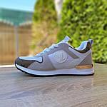Женские кроссовки Louis Vuitton (белые с золотом) 20015, фото 4