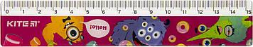 """Лінійка пласт. 15см """"Kite"""" №К19-090-1 Jolliers-1(100)"""