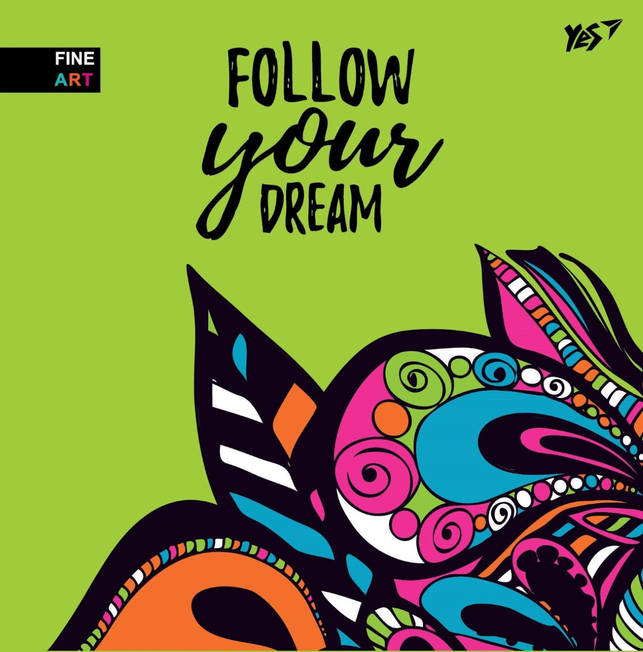 Блокнот A5+ 64арк. б/лін. Follow your dream інтегр. обкл. №151527/Yes/(3)