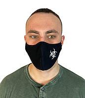 Маска черная на лицо,маска  для рта и носа .VIRUS-COBRA. Маска на лицо Пушка Огонь Токсичный 2
