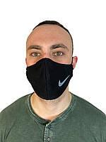 Маска черная на лицо,маска  для рта и носа.NIKE . Маска на лицо Пушка Огонь Токсичный 2
