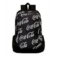 Городской черный рюкзак Coca-cola школьный мужской женский спортивный