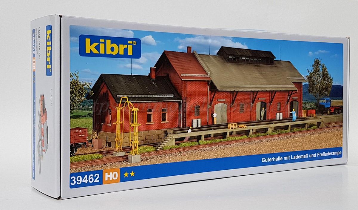 Kibri 39462 Сборная модель железнодорожного пакгауза (склад) длиной 47см, масштаба 1/87, H0