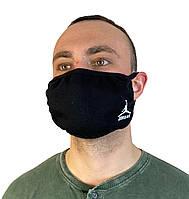 Маска черная на лицо,маска черная для рта и носа. Реплика JORDAN.Маска на лицо Пушка Огонь Токсичный 2