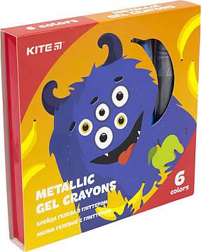 "Крейда гелева ""Kite"" №K19-095-6 6кольор.з глітером Jolliers(12)"